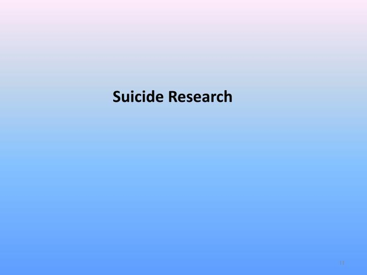 Suicide Research