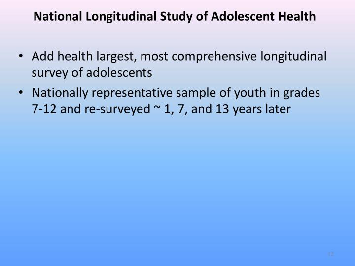 National Longitudinal Study of Adolescent Health