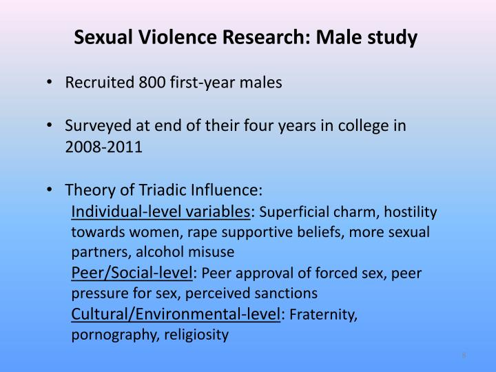 Sexual Violence Research: Male study