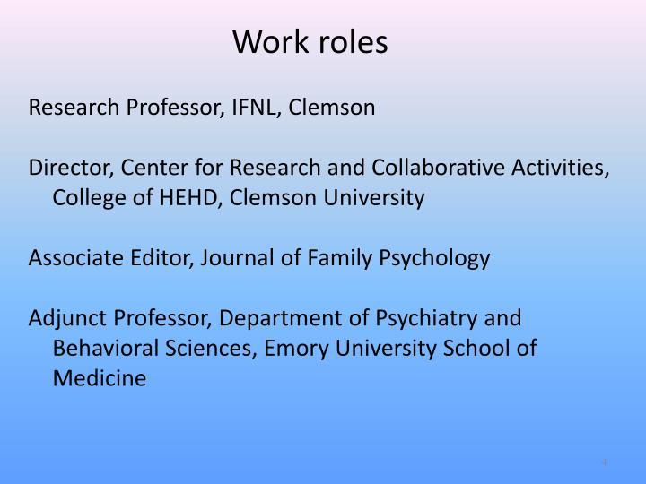 Work roles