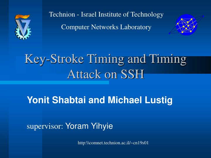 key stroke timing and timing attack on ssh n.