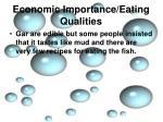economic importance eating qualities6