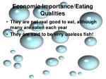 economic importance eating qualities8