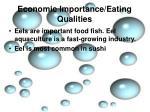 economic importance eating qualities9