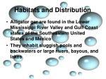 habitats and distribution