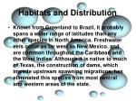 habitats and distribution3