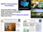 aqast communications and outreach