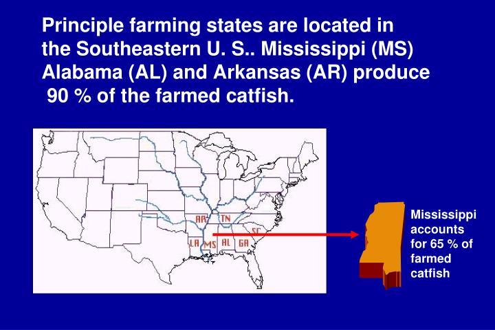 Principle farming states are located in
