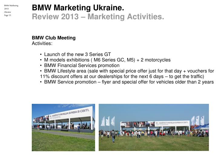 bmw marketing plan Bmw group four theories of excellence marketing mix mission statement & strategy number one four theories of excellence customer excellence operational excellence.