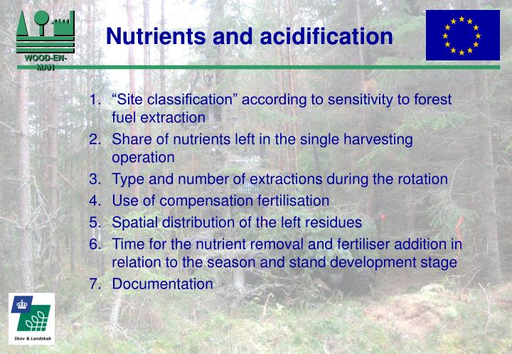 Nutrients and acidification