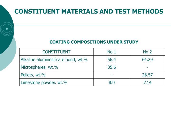 CONSTITUENT MATERIALS AND TEST METHODS