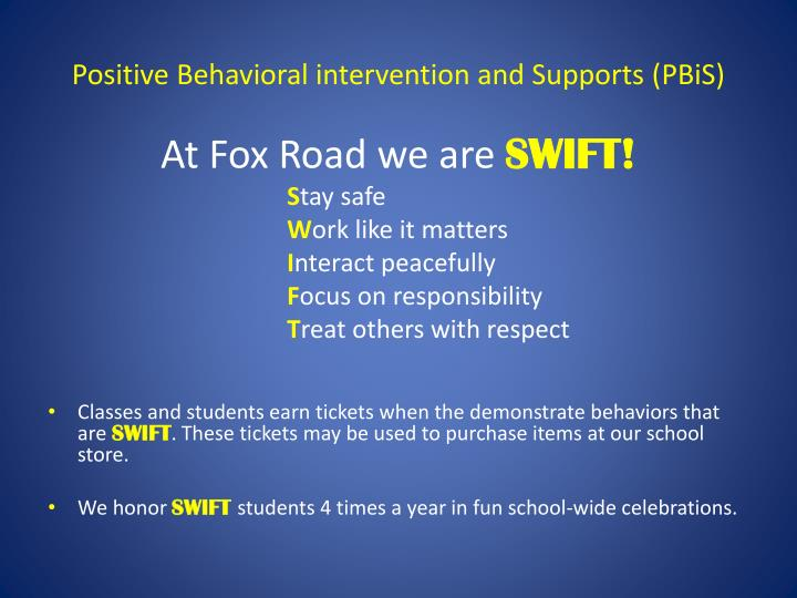 positive behavioral intervention and supports pbis n.