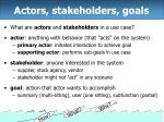 actors stakeholders goals