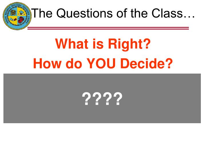 the questions of the class n.