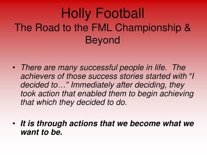 Holly Football