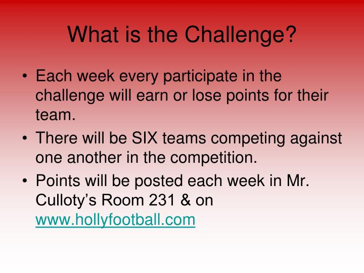 What is the challenge1