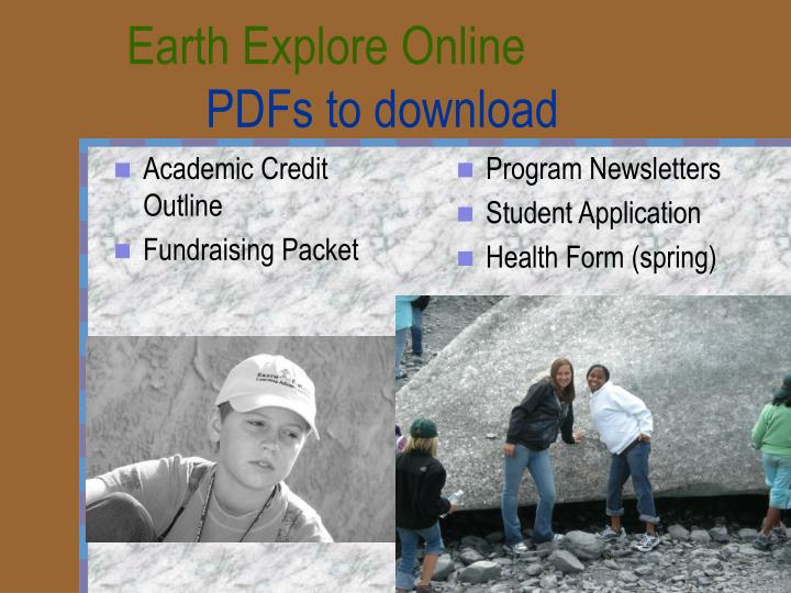 Earth Explore Online