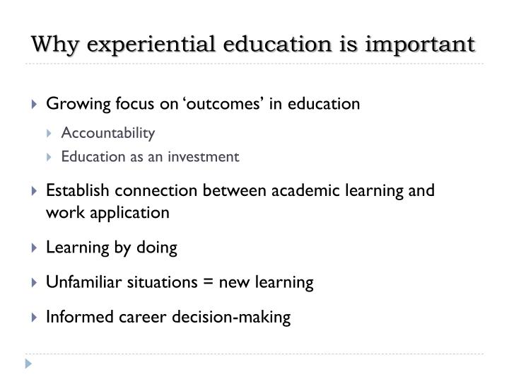Why experiential education is important