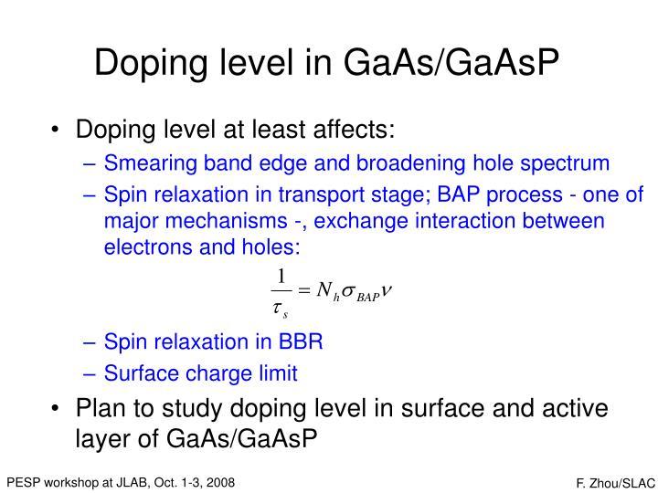 Doping level in GaAs/GaAsP
