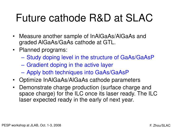 Future cathode R&D at SLAC