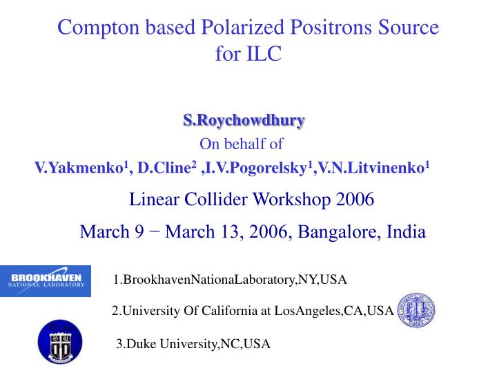 compton based polarized positrons source for ilc n.
