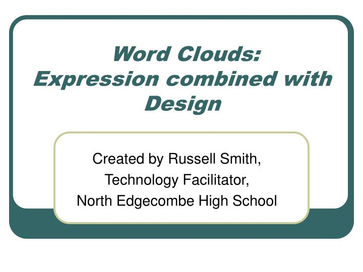 word clouds expression combined with design n.
