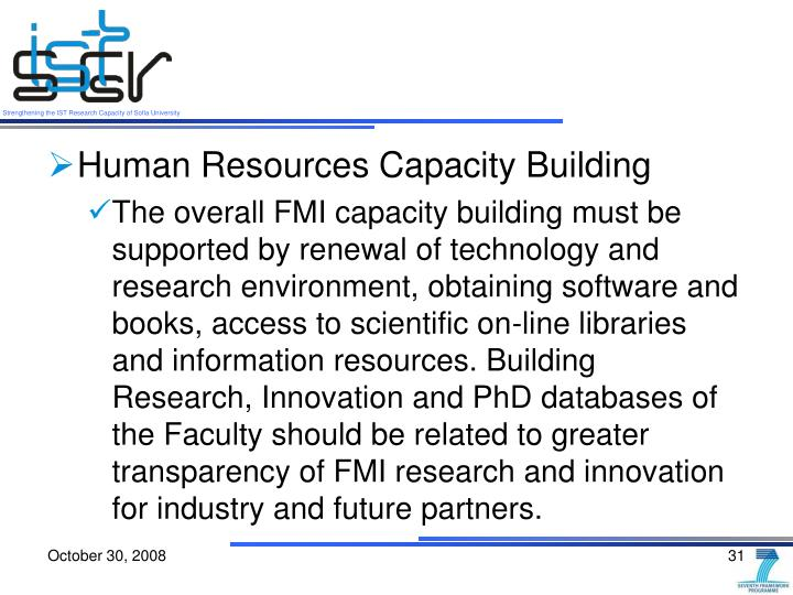 Human Resources Capacity Building