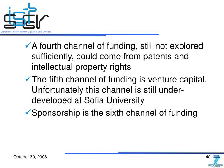 A fourth channel of funding