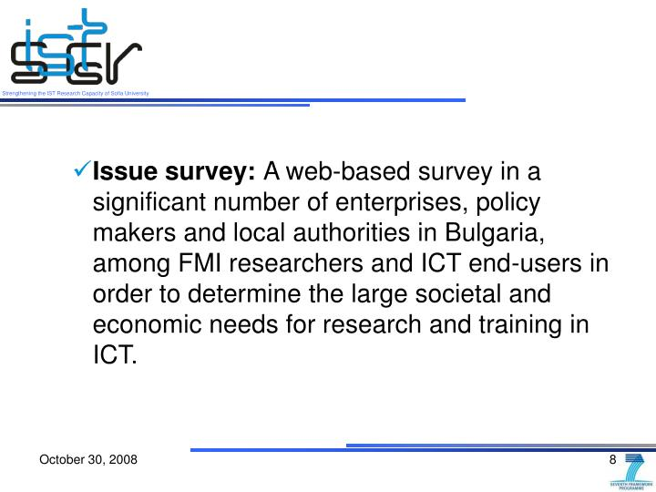Issue survey: