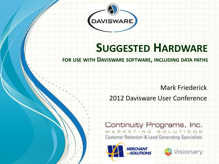 suggested hardware for use with davisware software including data paths n.