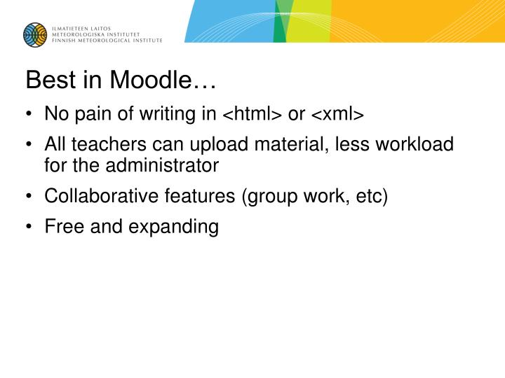 Best in Moodle…