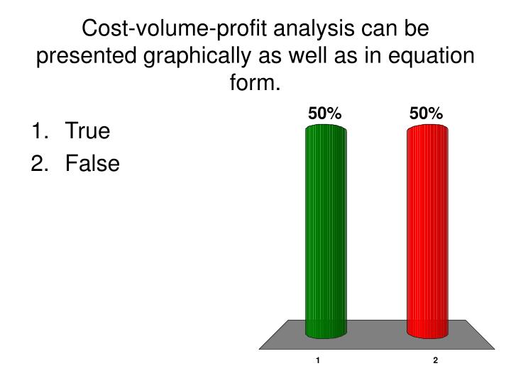 the cost volume profit analysis Cost-volume-profit analysis this lesson introduces cost-volume-profit analysis cvp analysis is a way to quickly answer a number of important questions about the profitability of a company's products or services cvp analysis can be used with either a product or service.