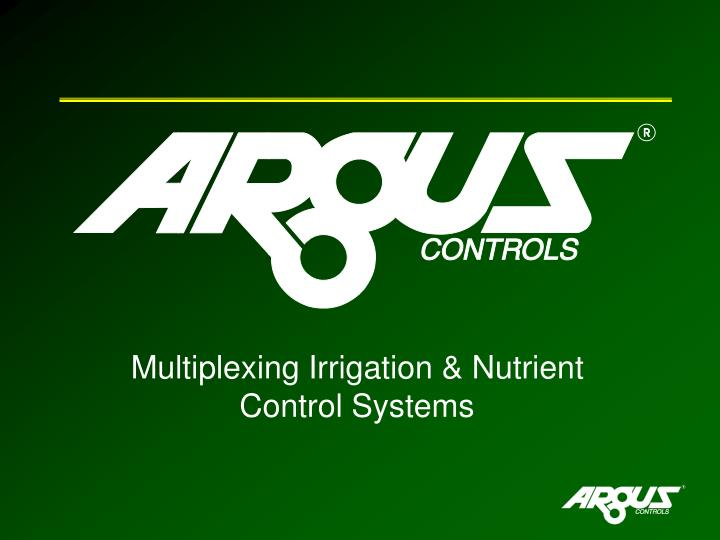 multiplexing irrigation nutrient control systems n.