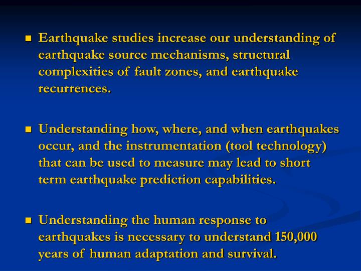 understanding how an earthquake occurs The so-called richter magnitude scale – more the richter magnitude of an earthquake is determined from the logarithm of the amplitude of waves recorded.