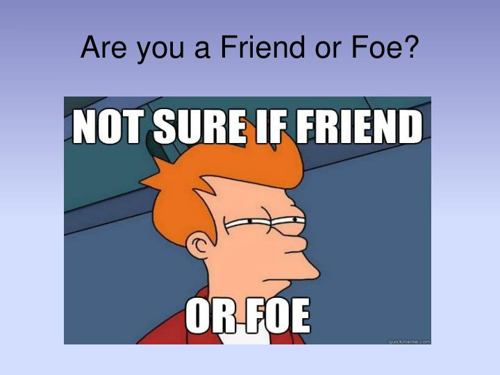 Are you a Friend or Foe?