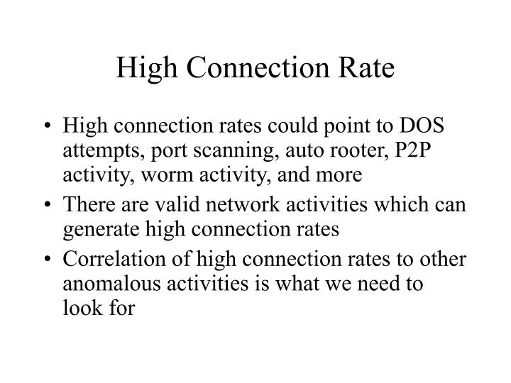 High Connection Rate