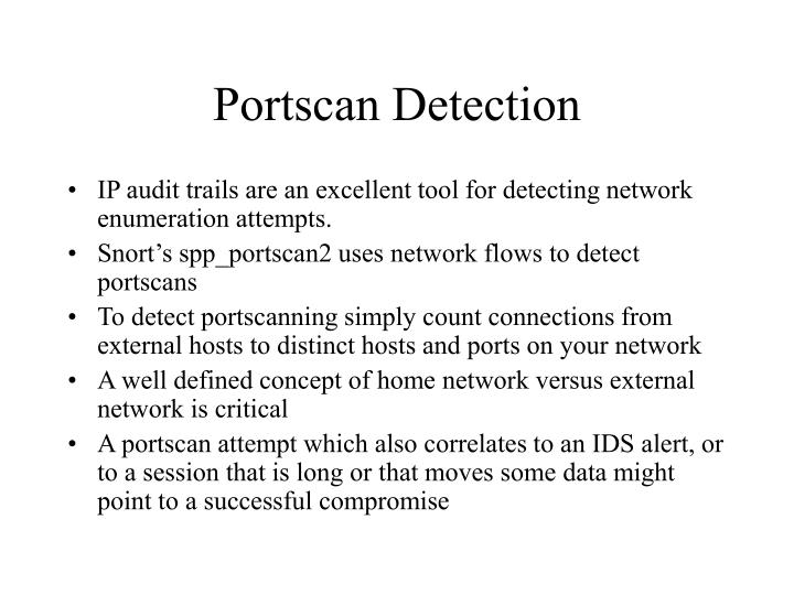 Portscan Detection