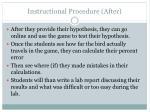 instructional procedure after