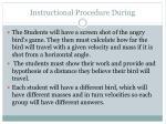 instructional procedure during