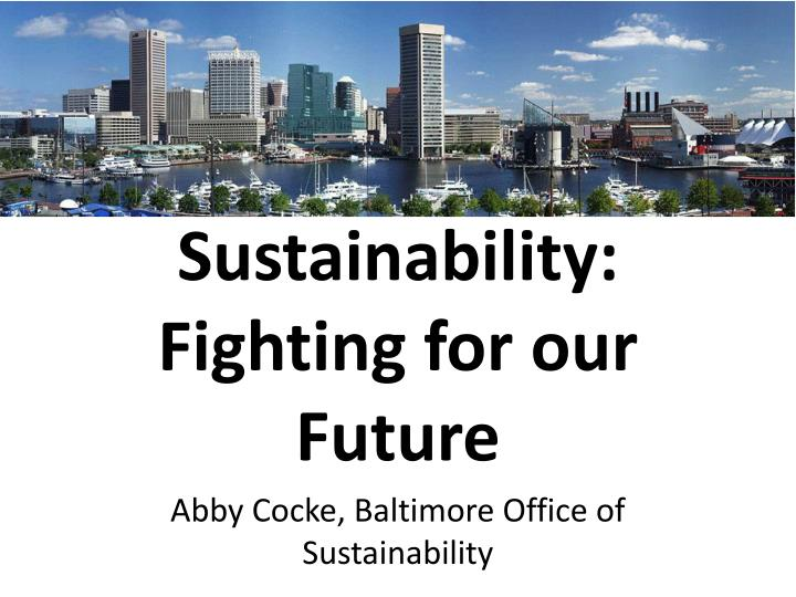 sustainability fighting for our future n.