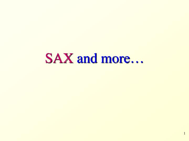sax and more n.