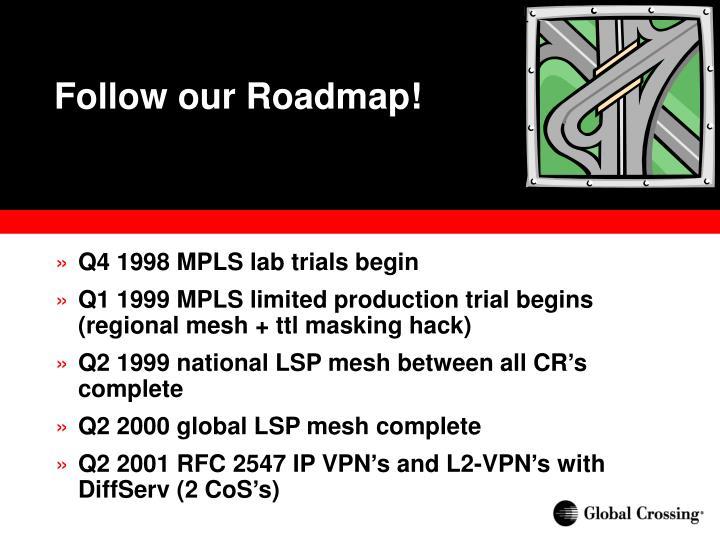 Follow our Roadmap!
