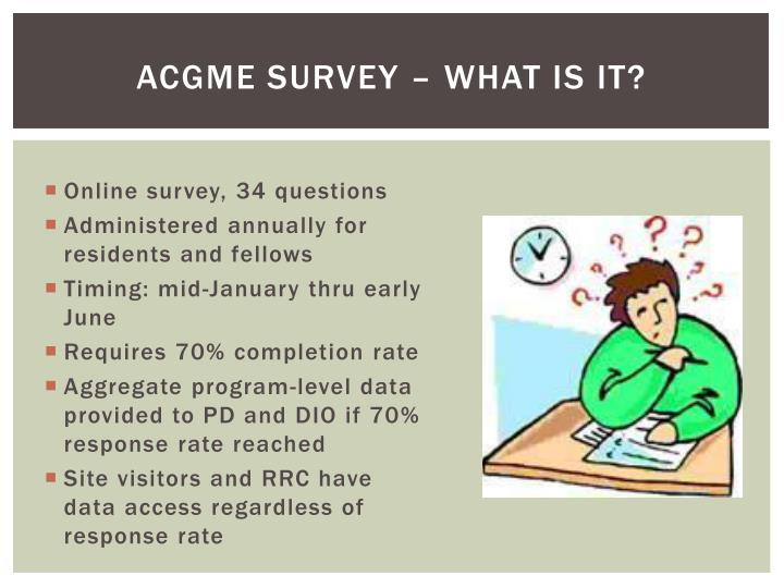 Acgme survey what is it