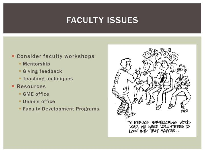 Faculty Issues