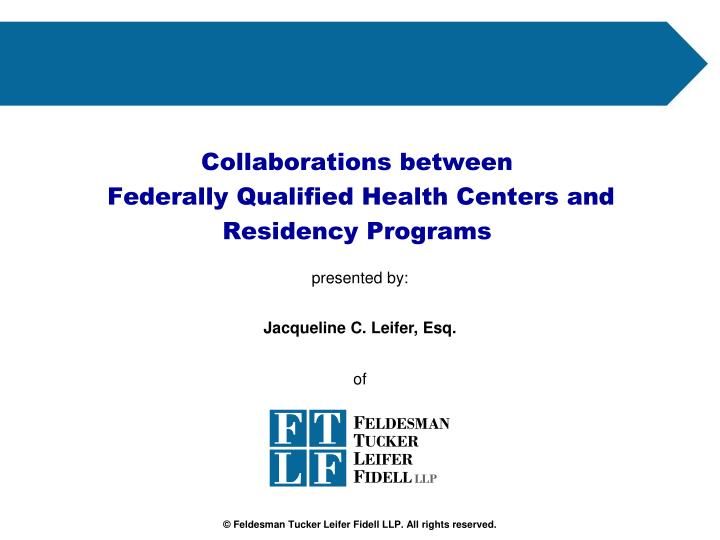 collaborations between federally qualified health centers and residency programs n.