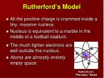 rutherford s model