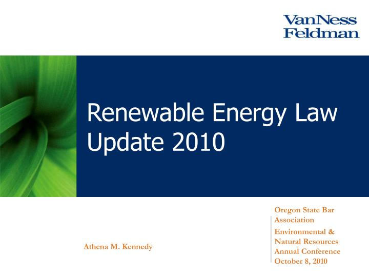 renewable energy law update 2010 n.