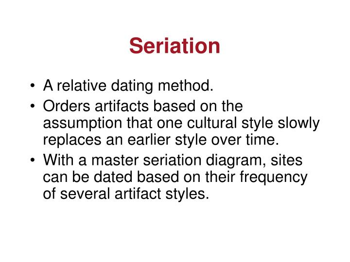 Seriation relative dating