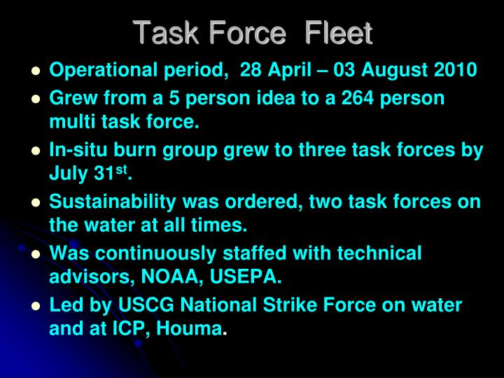Task Force  Fleet