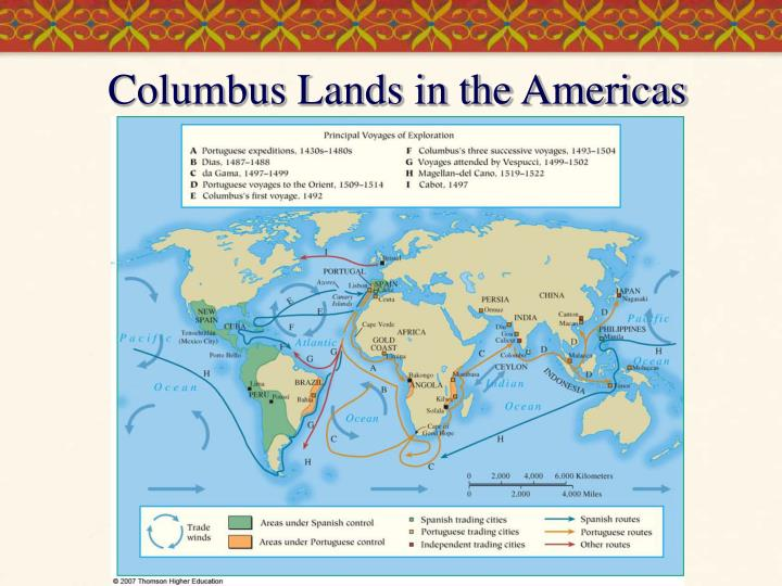 Columbus Lands in the Americas